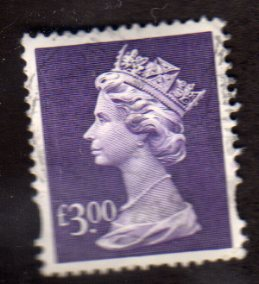 £3.00  DULL VIOLET  FINE USED
