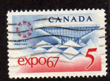 1967 5c EXPO 67 WORLD FAIR FINE USED