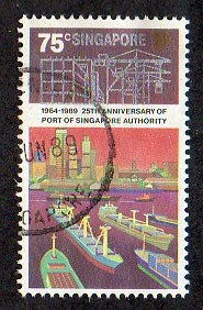 1989 75c '25TH ANN OF PORT OF SINGAPORE' FINE USED