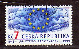 1999 7kc '50TH ANN OF COUNCIL OF EUROPE' FINE USED