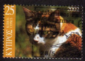 2002 25c 'CATS' FINE USED