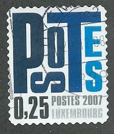 2007 25c 'POSTES LUXEMBOURG' FINE USED