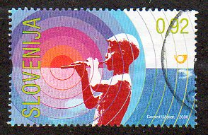 2008 92c '80TH ANN OF RADIO & 50TH ANN OF T/V IN SLOVENIA (EXM/S)' FINE USED